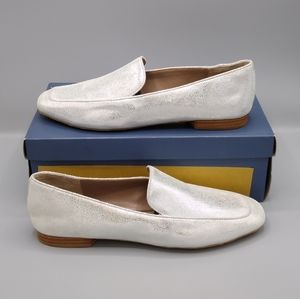 Donald J Pliner Halia Silver Square Toe Loafers